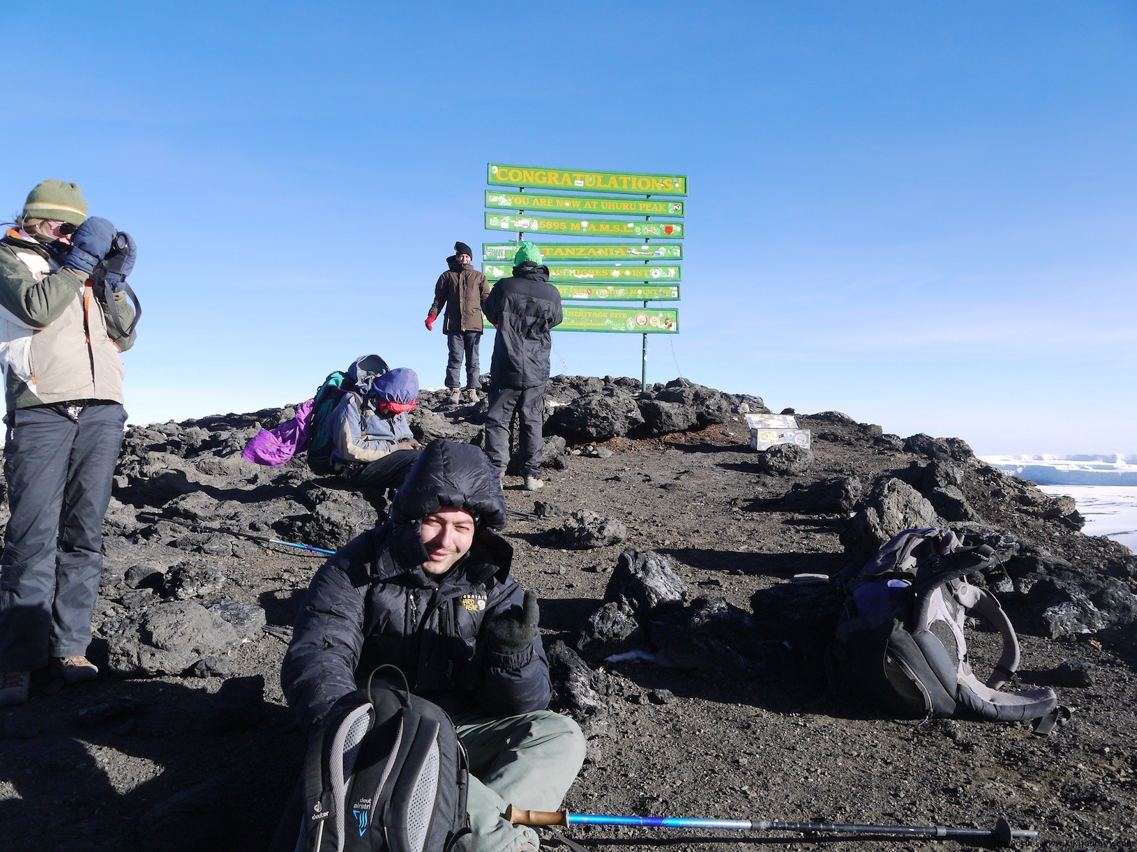 Tired on Uhuru Peak