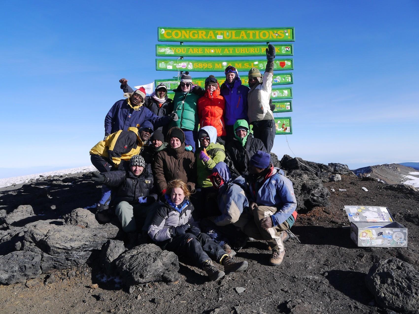 Kilimanjaro Uhuru Peak Group Photo
