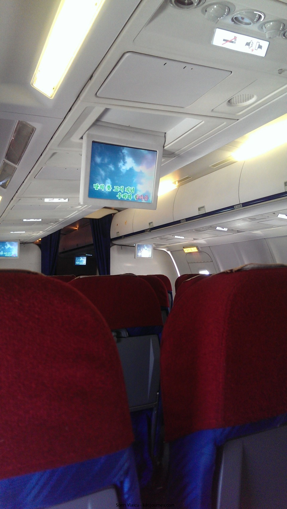 Air Koryo - inside the plane