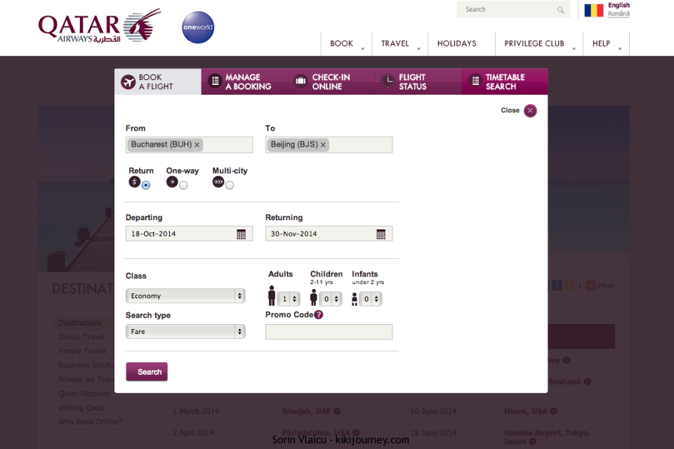 QATAR Airways Booking