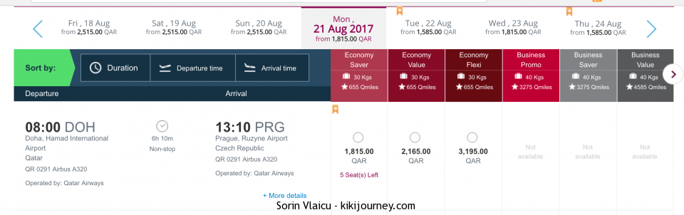 Doha to Prague