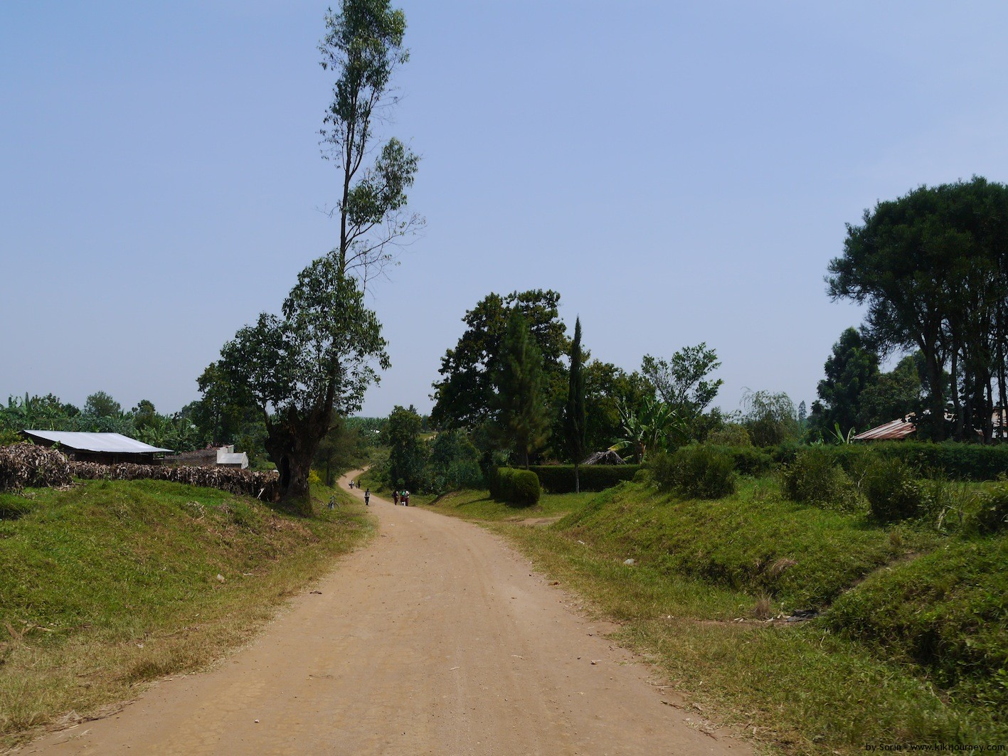 Rural Road in Uganda