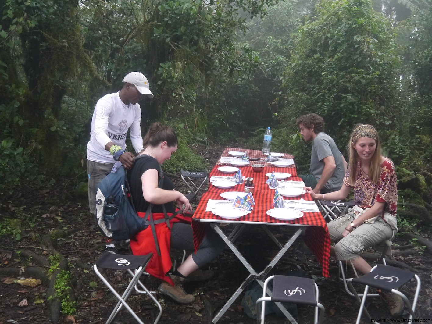 Lunch set on Kilimanjaro