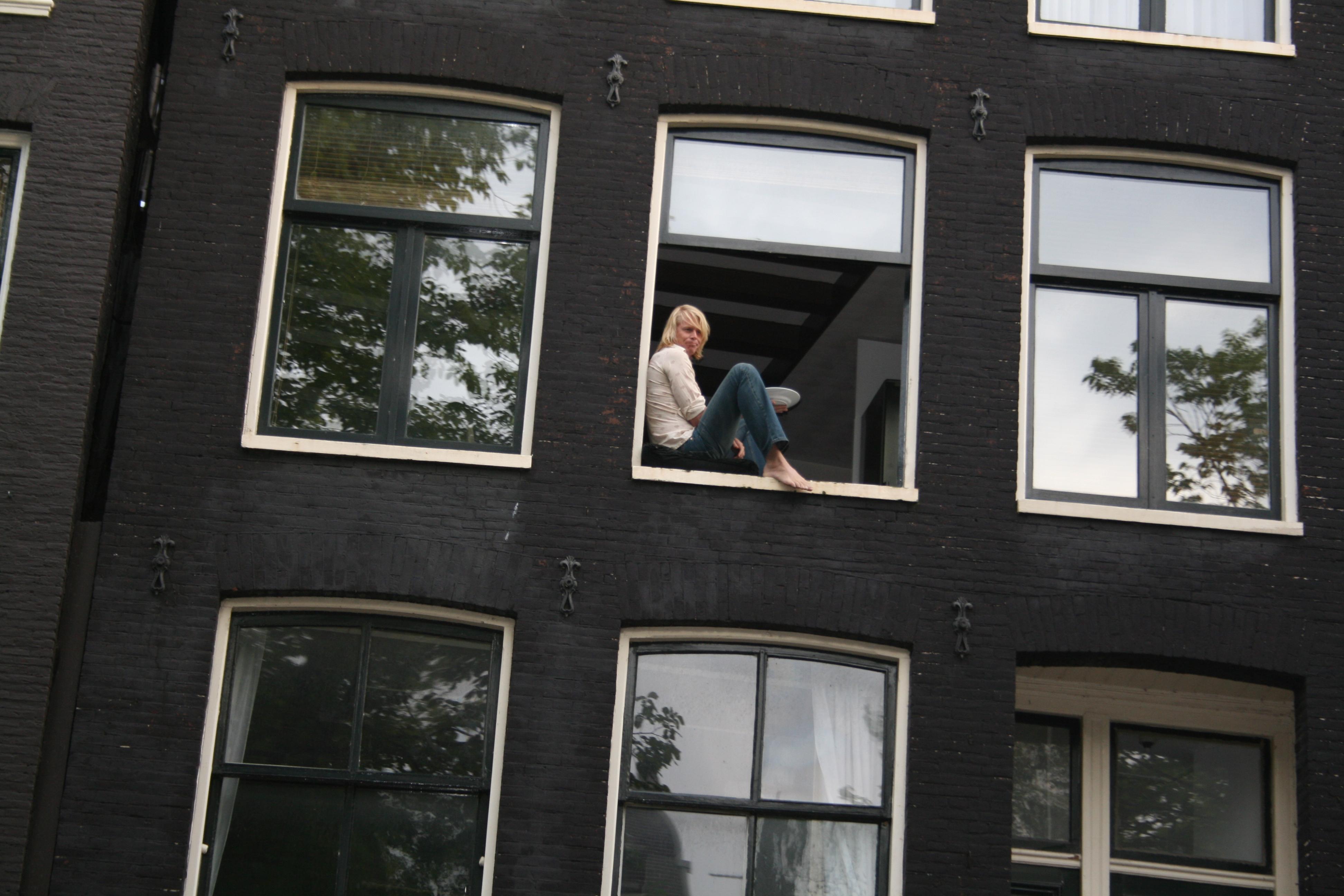 Amsterdam Girl at Window