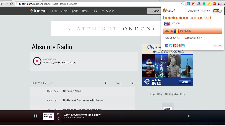 Absolute Radio Online