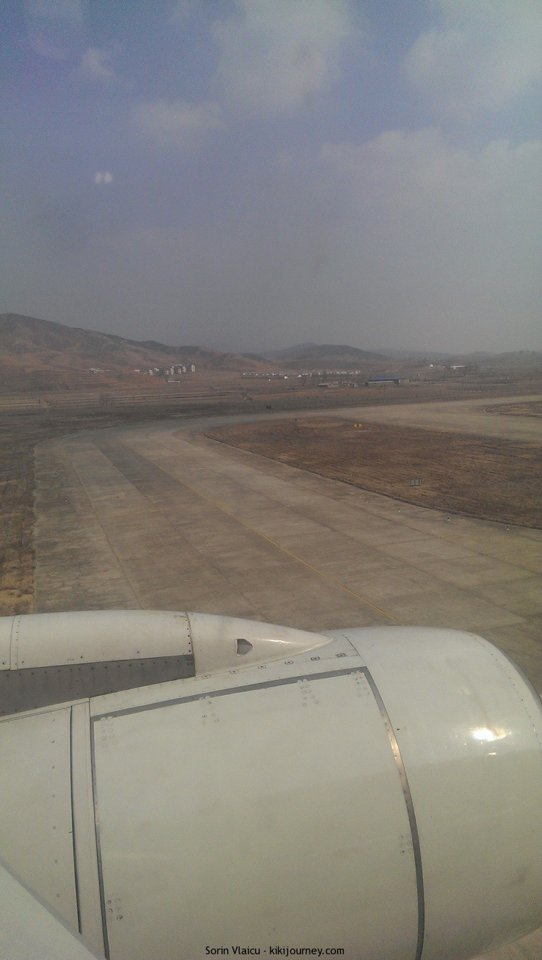 Air Koryo - landing in Pyongyang