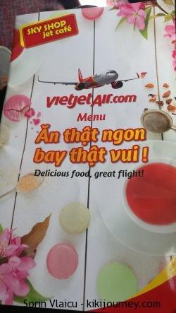 In flight menu Vietjet Air