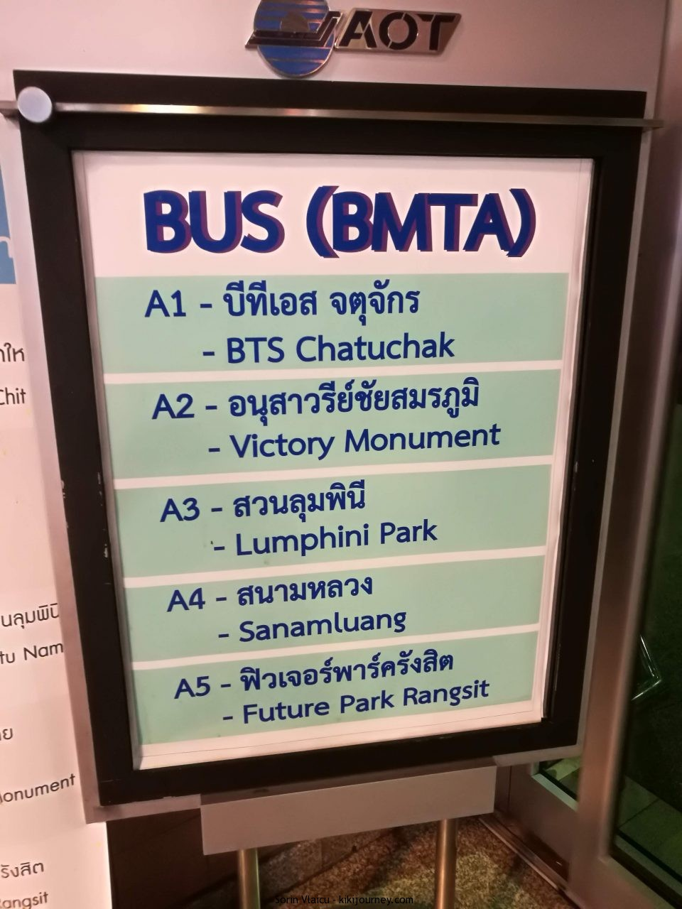 BUS BMTA Bangkok Route