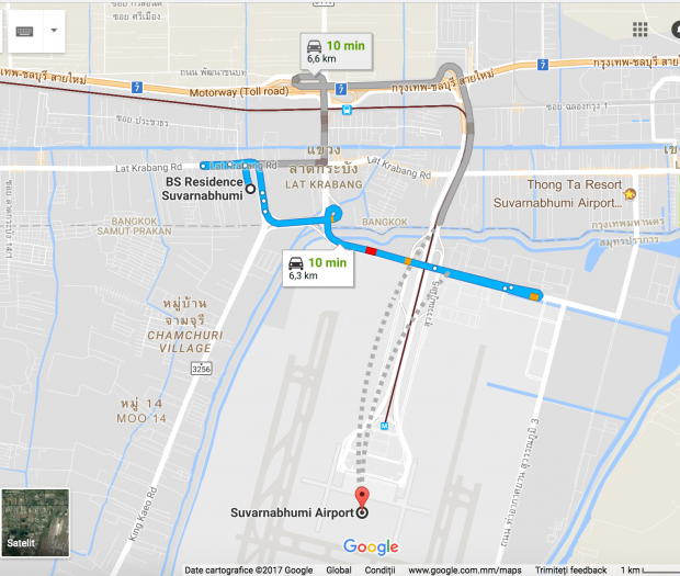 BS Residence Suvarnabhumi Location