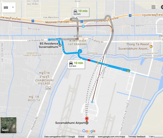BS Residence Suvarnabhumi Location