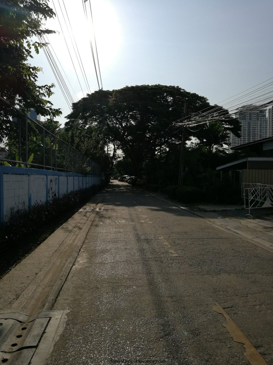 Road close to the hostel