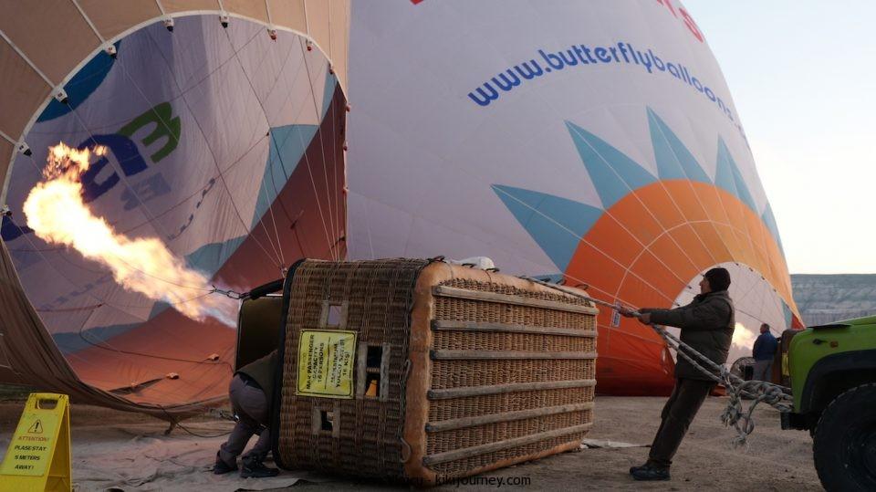 Balloons inflating Cappadocia